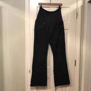 NWOT Gap maternity sexy boot jeans rinse wash 14R
